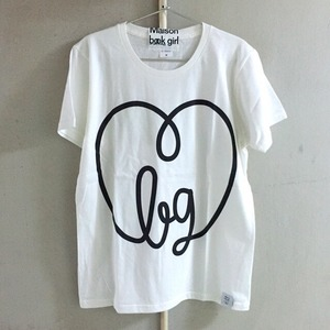 Maison book girl Tshirt white×black _mbg001