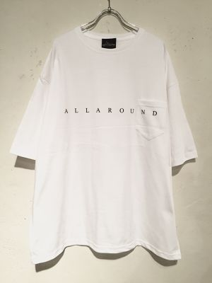 """19,FRONT LOGO WIDE SILHOUETTE S/S POCKET Tee """"WHITE"""""""