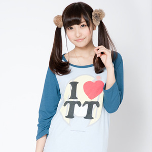 TT Raglan T-shirts(Blue × Light blue)