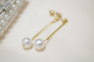 cottonpearl swing ピアス
