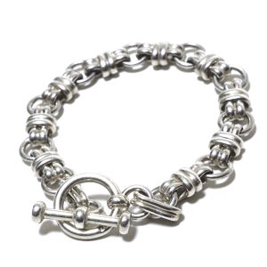 Vintage Sterling Silver Mexican Chain Knot Link Bracelet