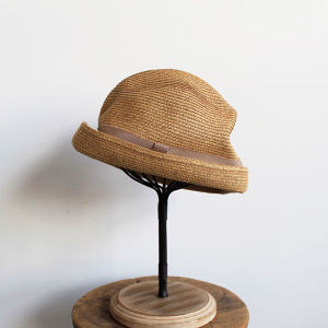 mature ha.(マチュアーハ)BOXED HAT 7cm mix brown × pink beige 送料無料