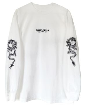 HOTEL BLUE DRAGON L/S TEE WHITE サイズS