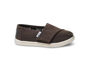Canvas Tiny TOMS Classics  ( Chocolate ) トムス キッズ
