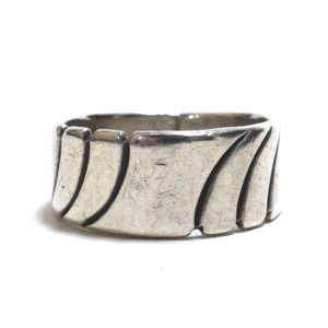 Navajo Sterling Silver Cigar Band Ring by Sally Yazzie