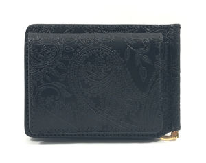 Paisely Money clip Wallet