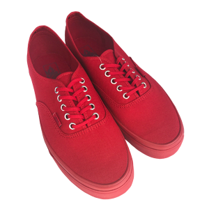 VANS AUTHENTIC (PRIMARY MONO) RED/SILVER