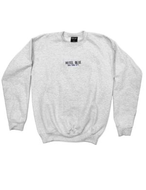 HOTEL BLUE HB NYC CREWNECK SWEAT ASH GREY
