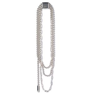 AMBUSH® -  STANCE TRIPLE BALL CHAIN NECKLACE (SILVER)-