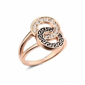 Real Italina Rings for women Genuine Austrian Crystals Gold  Plated Fashion ring for men New Sale wedding rings  #RG95639Rose