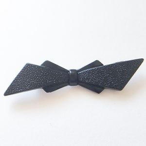 french jet bow brooch[b-180]