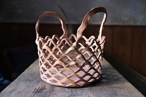 Ko Soda  Leather Basket Round(ラスカバン)