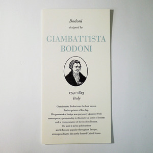 GREAT TYPE DESIGNERS SERIES GIAMBATTISTA BODONI