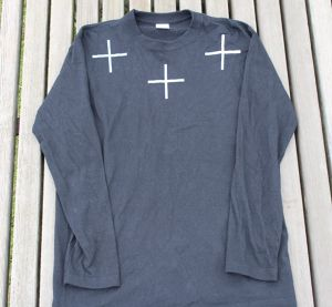 【Black】Cross  Long T-shirts WWLT-01