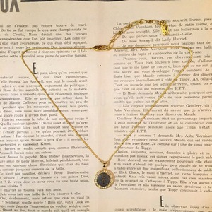 Yves Saint Laurent gold × dark gray  necklace
