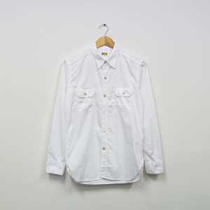 WORK SHIRT WITH ELBOW PATCH (S.I.C WHITE DOBBY)