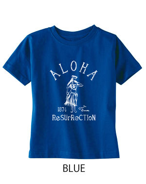 [KID] ALOHA RESURRECTION TEE BLUE
