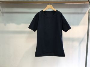 "theSakaki""theBang 織物 U/neck Short Sleeve Navy"""