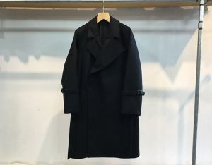 "semoh""wool/cashmere trench coat black"""