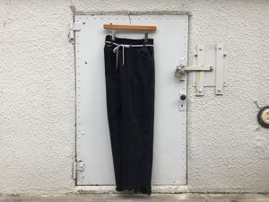 "MAISON EUREKA "" VINTAGE REWORK BIGGY PANTS BLACK "" A"
