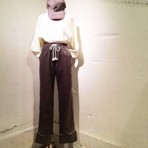 Corduroy Wide pants / Gray