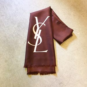 Yves Saint Laurent logo scarf