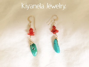 Red coral and Turquoise