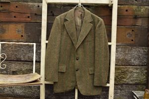70s~ vintage Harris Tweed tailored JKT