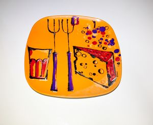 Fiskamin Ornamin plate(orange)