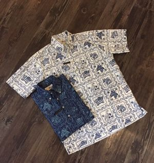 "REYN SPOONER  ""S/S B/D PULL OVER SHIRTS(LAHAINA SAILOR)"""