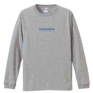 YOGNWVS 刺繍 LONGTEE (Navy on Gray)
