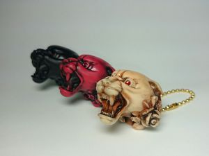 Panther head key chain