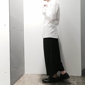 【51%OFF】【LUCIOLE_JEAN PIERRE】Collarless Drass Shirt  (WHT)