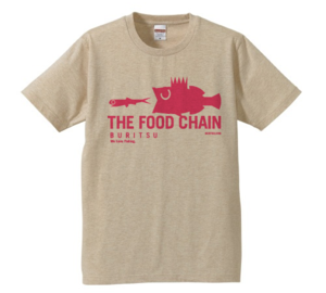 BURITSU THE FOOD CHAIN T : Beige×Pink
