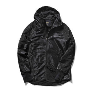 narifuri Jacquard camouflage wind through parka