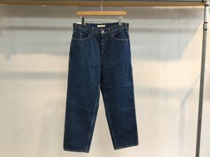 "LIVING CONCEPT""WIDE TAPERED DENIM PANTS BIO WASH """