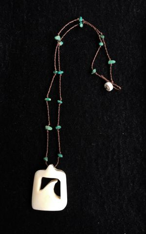 T.B.A Bone Carving*wave*Turquoise