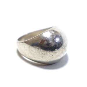 Vintage Sterling Silver Mexican Large Puffy Ring