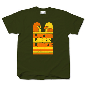 Lucha Libre Lunes army green