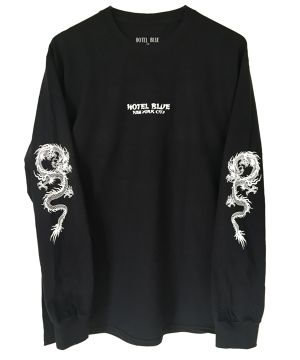 HOTEL BLUE DRAGON L/S TEE BLACK