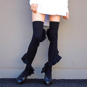 Frill knee high BLACK