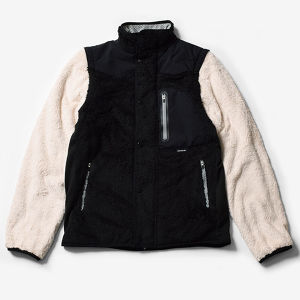 MMA Varsity Fleece Jacket v2 (Black_Off White)