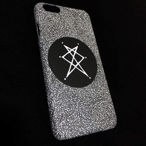 CIRCLE PZ LOGO & BACTERIA iPhone case