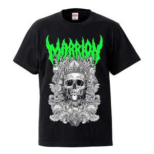 DEATH MARRION Front Print Green Tシャツ