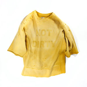 NOT DIRTY DAMAGE SWEAT YELLOW