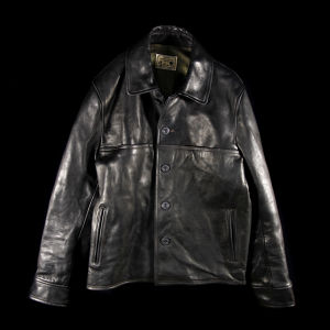 DAMAGE HORSE LEATHER AGING JACKET BLACK