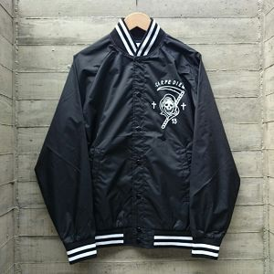 CARPE DIEM/nylon stadium jacket col.blk