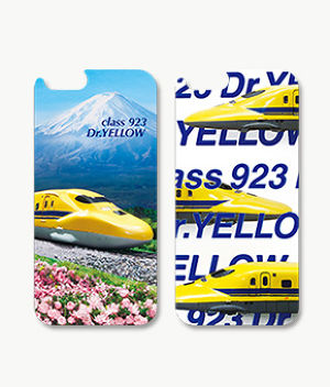 F142 iPhone6/6s対応 3Dcase class923 Dr.YELLOW with Mt.Fuji/923形 Dr.YELLOW