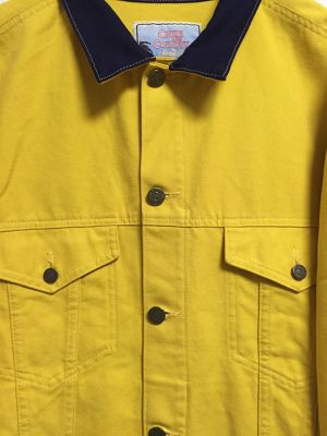 90's yellow denim jacket