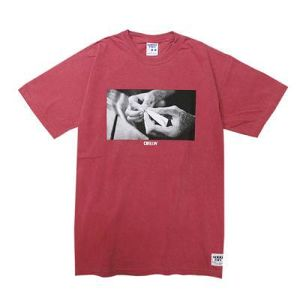 【GIMME FIVE】CHILLIN PIGMENT TEE(RED)